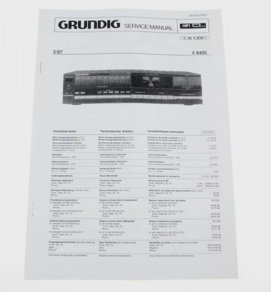 Service Manual - V 8400 MK2 Verstärker