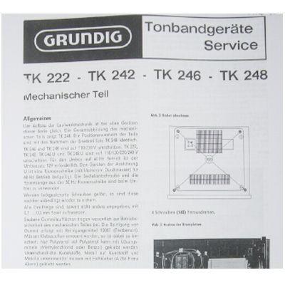 Service Manual TK 222 - TK 248 Hifi Tonbandgerät