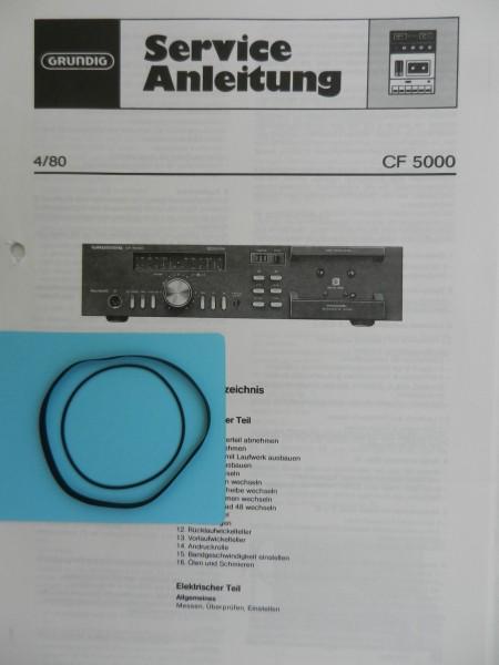 CF 5000 / CF 5100 Riemen SET GRUNDIG