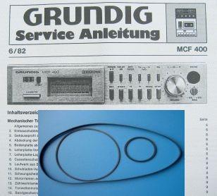 MCF 400 Riemen 3er SET GRUNDIG