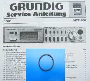 MCF400 CF40 Schubladen Riemen GRUNDIG