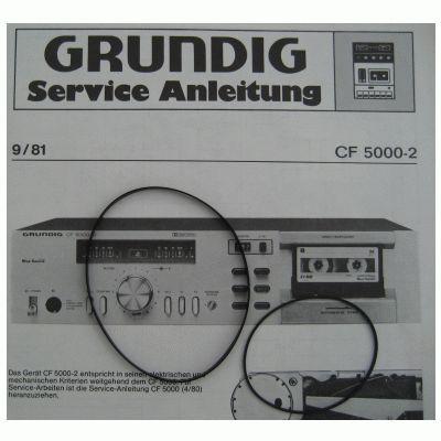 CF 5000 / 5000-2 Riemen SET Grundig