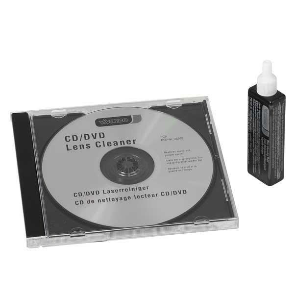 Reinigungs CD mit Flüssigkeit für Audio CD, DVD und Blu Ray von VIVANCO