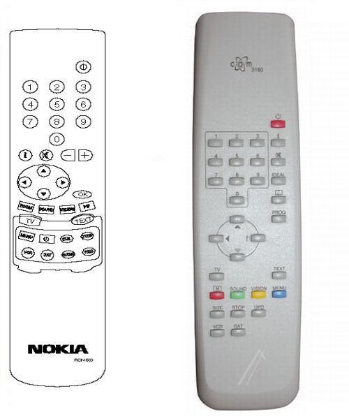 RCN 600 NOKIA ITT Ersatz Fernbedienung