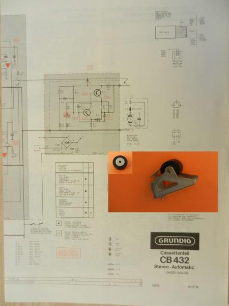 Tonrolle für CB 432 CB432 Cassettendeck für Studio, RPC von GRUNDIG