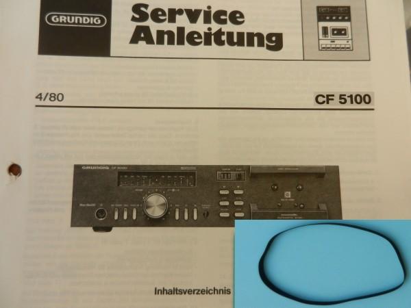 CF 5100 CF5100 Capstan Riemen GRUNDIG