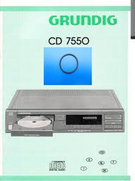 CD 7550 Schubladenriemen GRUNDIG