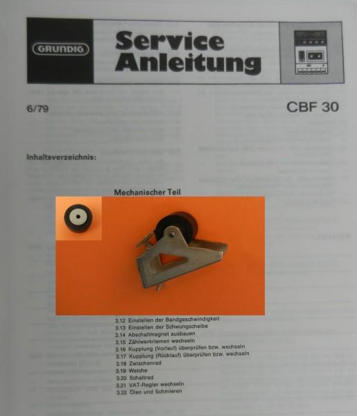 Tonrolle für CBF30 CBF 30 Cassettenfrontlader von GRUNDIG