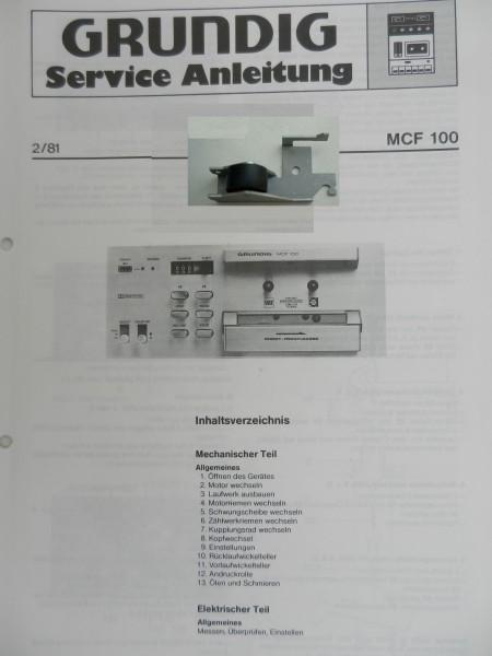 Tonrollenhebel für MCF 100 MCF100 GRUNDIG