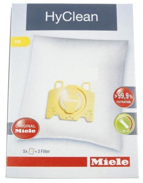 Staubsaugerbeutel für Miele Typ KK , HyClean 3D 5 Beutel + 2 Filter
