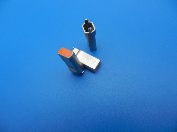 Aufsteckhülse orange für Schalter von GRUNDIG Cassetten Frontlader