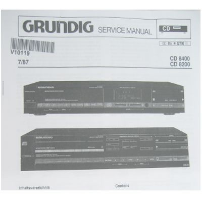 Service Manual - CD8400 / CD8200 Fine Arts CD-PLayer
