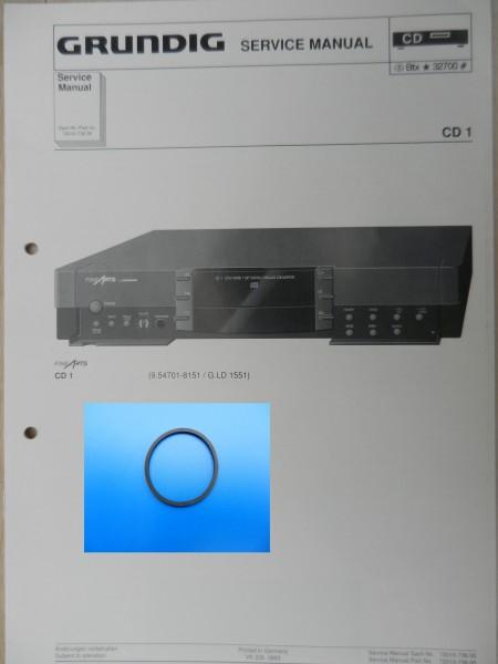 CD1 CD2 CD3 Schublade Rriemen GRUNDIG