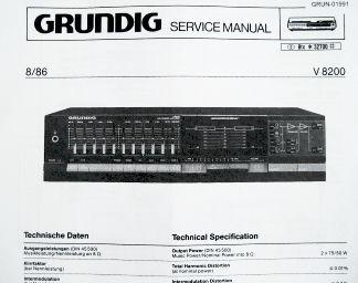 Service Manual - V 8200 Verstärker