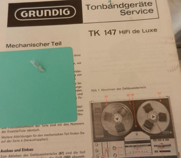 Lämpchen für TK 147 Tonband GRUNDIG