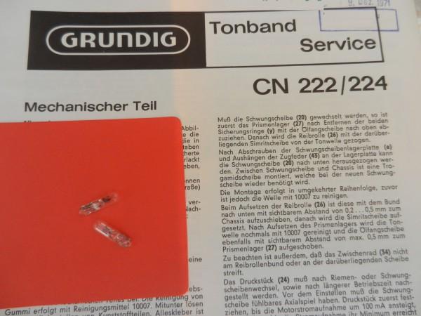 Lämpchen für Tape CN222 CN224 GRUNDIG SET