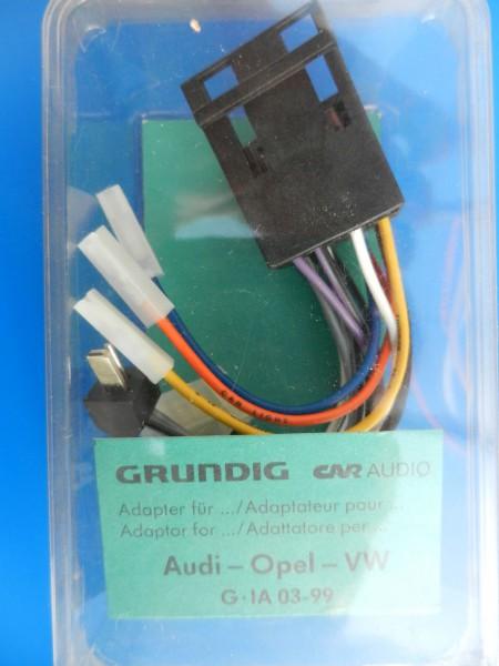 Audi, OPEL, VW Adapter für Lautsprecher und 12V Anschluß von GRUNDIG