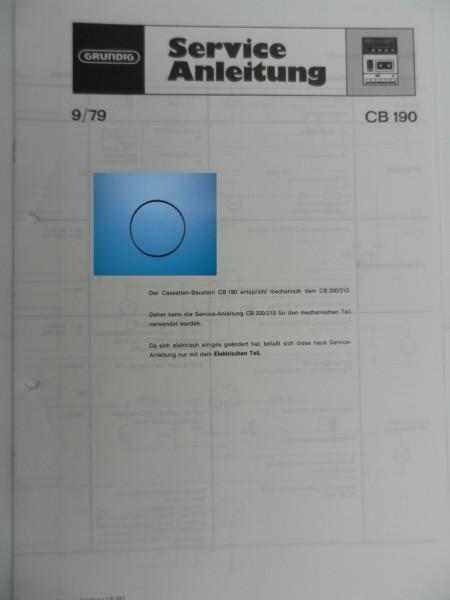 CB190, CB200, CB210, CB230, CB230a Zählwerk Riemen GRUNDIG