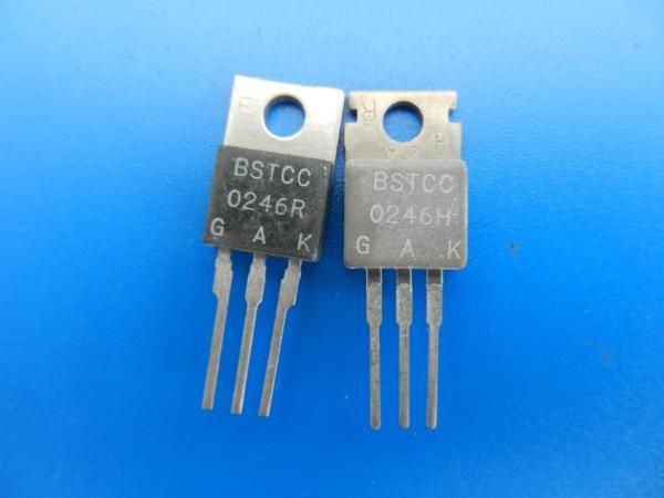 BSTCC 246R und BSTCC 246H Ablenkthyristoren für GRUNDIG TV Geräte