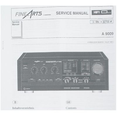 Service Manual - A9009 Fine Arts Verstärker