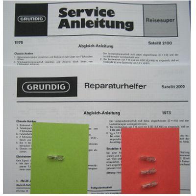 SATELLIT 2000 / 2100 / 3000 Lämpchen SET GRUNDIG