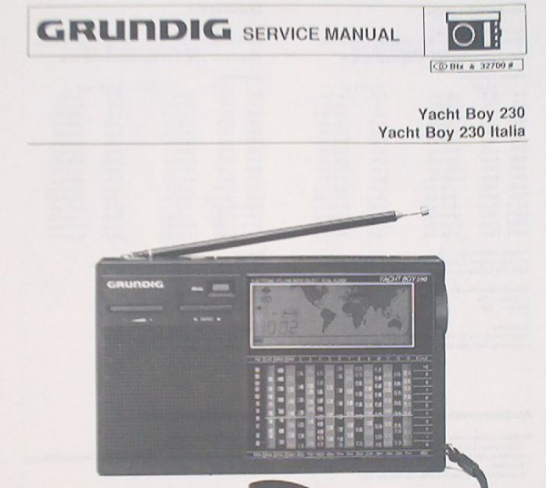 Service Manual - Yacht Boy 230 Weltempfänger