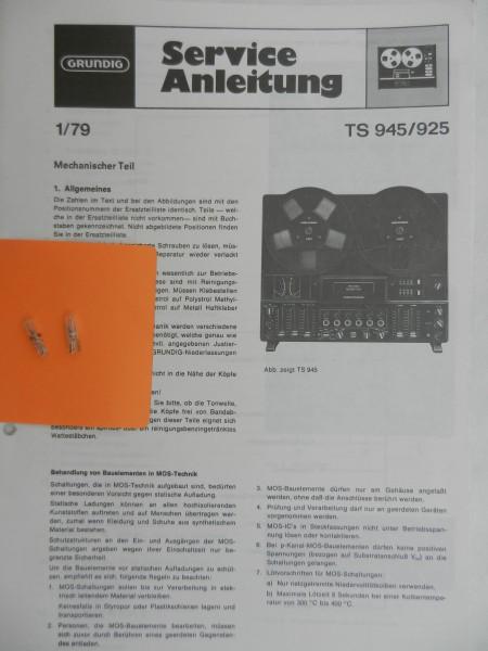 TS 925 / TS 945 Lämpchen SET für Tonbandgerät GRUNDIG
