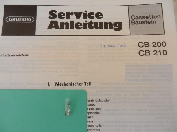 Lämpchen für Tape CB200 CB210 GRUNDIG
