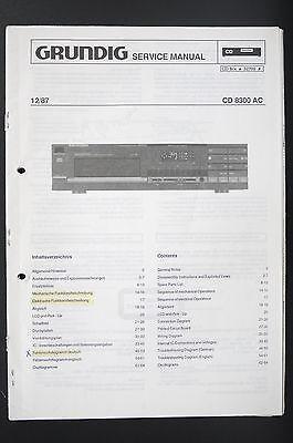 Service Manual - CD8300AC Fine Arts CD-PLayer