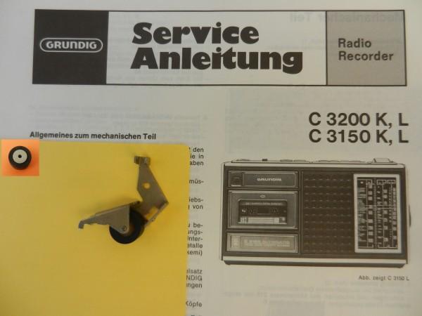 Tonrolle für C 3150 C3150 C3200 Radiorecorder von GRUNDIG
