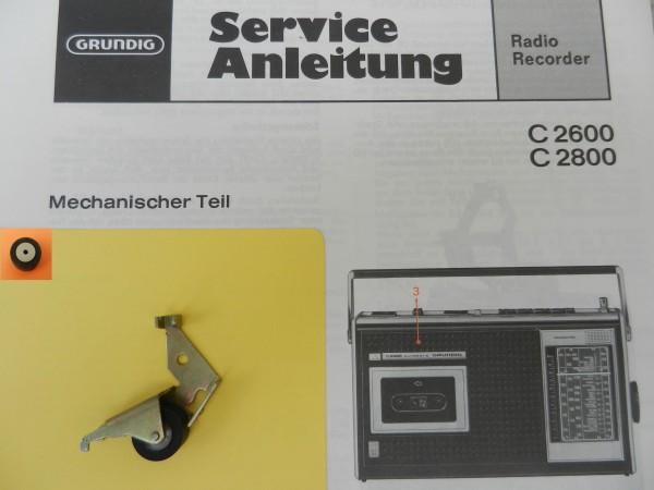 Tonrolle für C 2600 C2600 C2800 Radiorecorder von GRUNDIG