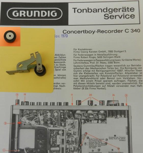 Tonrolle für C340 C 340 Concertboy Recorder von GRUNDIG