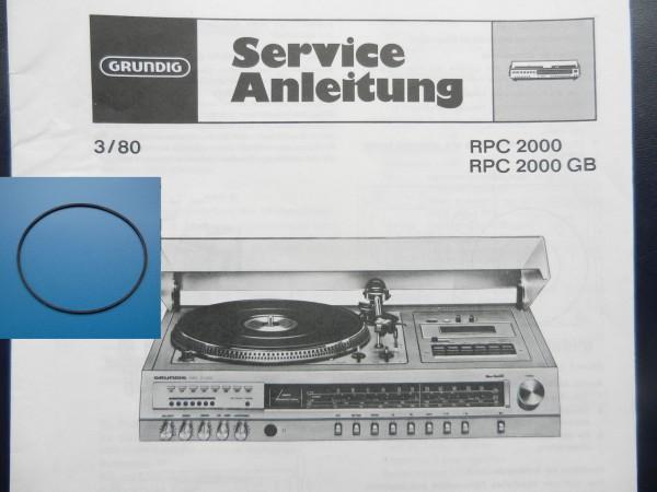 RPC2000 Studio Hifi Antriebsriemen GRUNDIG