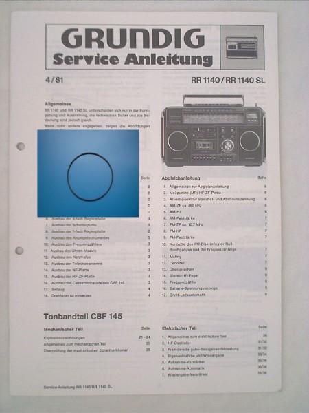 RR1140 , RR 1140 SL Zählwerkriemen GRUNDIG