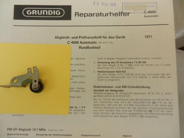 C4000 Tonrollenhebel von GRUNDIG für den Radiorecorder C 4000