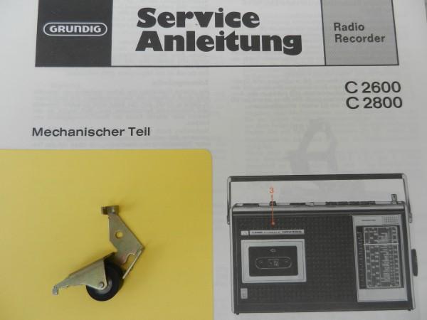 C2600 C2800 Tonrollenhebel von GRUNDIG für den Radiorecorder
