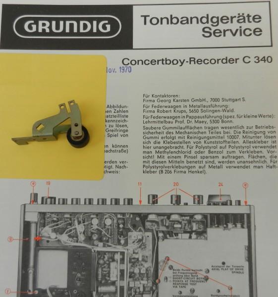 C340 Concertboy Recorder Tonrollenhebel von GRUNDIG
