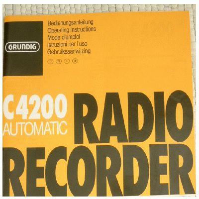 Bedienungsanleitung C 4200 Automatic Cassettenrecorder