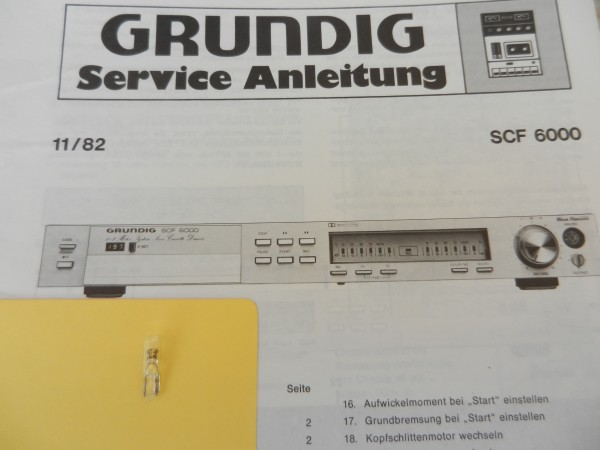 Lämpchen für Tape SCF 6000 GRUNDIG