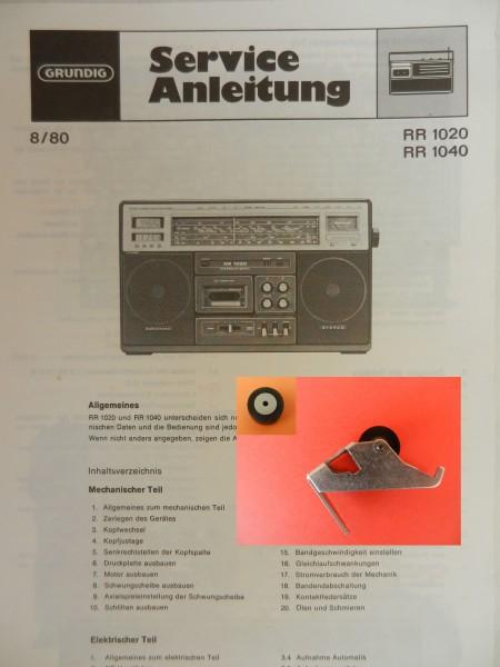 Tonrolle für RR1020 RR1040 RR 1020 RR 1040 Radiorecorder von GRUNDIG