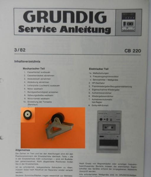 Tonrolle für CB220 CB 220 Cassettendeck für Studio, RPC von GRUNDIG