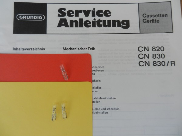 Lämpchen für Tape CN830 CN820 GRUNDIG SET