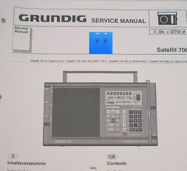 SATELLIT 700 Lämpchen SET GRUNDIG