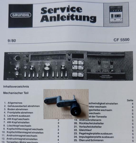 Tonrollenhebel für CF 5500 , MCF 500 / 600 GRUNDIG