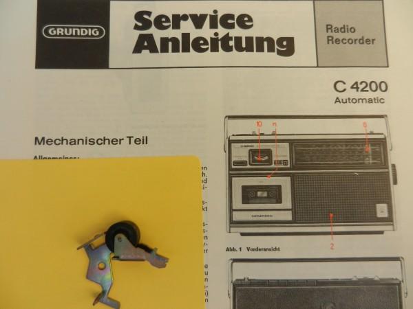 C4200 Tonrollenhebel für den Radiorecorder von GRUNDIG