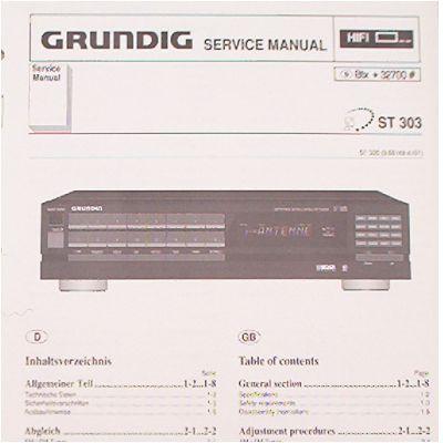 Service Manual - ST 303 Hifi Tuner Fine Arts