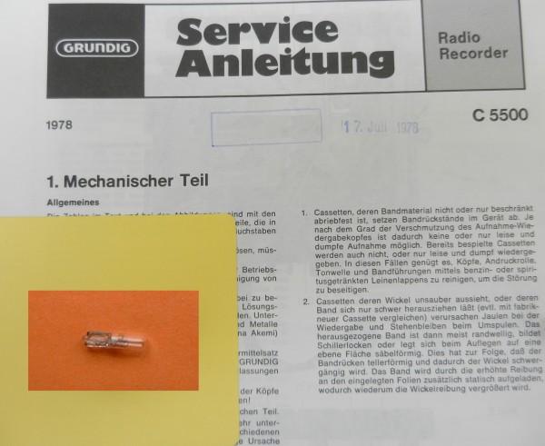 Lämpchen für C 5500 Radiorecorder GRUNDIG