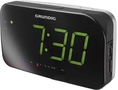 Sono Clock 490 GRUNDIG silber