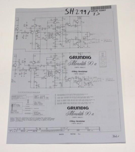Schaltplan - Monolith 60 - 3 Wege - Aktiv Box