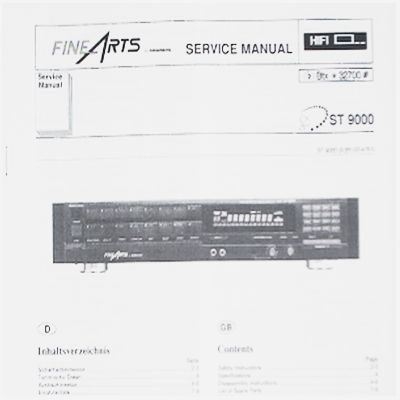 Service Manual - ST 9000 Hifi Fine Arts Tuner